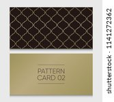 pattern card 02. background... | Shutterstock .eps vector #1141272362