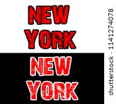 new york t shirt design for all ... | Shutterstock .eps vector #1141274078