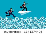 businessman competition run on... | Shutterstock .eps vector #1141274405