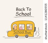back to school concept with... | Shutterstock .eps vector #1141280555