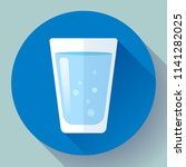 glass of water icon flat design.... | Shutterstock .eps vector #1141282025