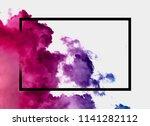 neon cloud background concept | Shutterstock . vector #1141282112