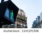 green light at traffic light... | Shutterstock . vector #1141291508