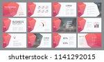 business presentation template... | Shutterstock .eps vector #1141292015