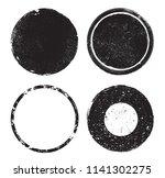 grunge post stamps.vector... | Shutterstock .eps vector #1141302275