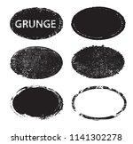 grunge post stamps.vector... | Shutterstock .eps vector #1141302278