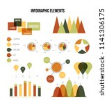 infographic elements  business... | Shutterstock .eps vector #1141306175