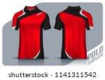 t shirt polo templates design.... | Shutterstock .eps vector #1141311542