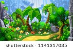 trail in fantastic jungle.... | Shutterstock .eps vector #1141317035