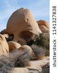 skull rock formation  joshua... | Shutterstock . vector #1141327838