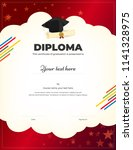 kids diploma or certificate... | Shutterstock .eps vector #1141328975