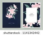 floral wedding invitation card... | Shutterstock .eps vector #1141342442