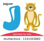 blue letter j and yellow jaguar....   Shutterstock .eps vector #1141343882