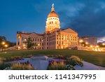 exterior of the kansas state... | Shutterstock . vector #1141347995