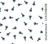 rocket seamless pattern cover....