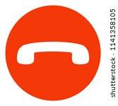 decline phone call button.... | Shutterstock .eps vector #1141358105