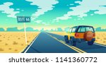 vector cartoon landscape of... | Shutterstock .eps vector #1141360772