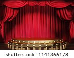 empty theater stage with red... | Shutterstock . vector #1141366178