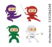 set of the cartoon colored... | Shutterstock .eps vector #1141366268