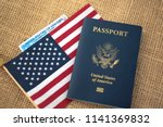 passport card of usa covered by ... | Shutterstock . vector #1141369832