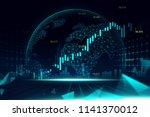 futuristic concept of global... | Shutterstock . vector #1141370012