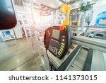 control panel of auto robot... | Shutterstock . vector #1141373015