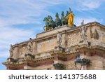 tuileries garden statues over...   Shutterstock . vector #1141375688