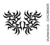 ornamental abstract ink shape.... | Shutterstock . vector #1141380605