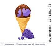 ice cream refreshing dessert.... | Shutterstock .eps vector #1141381478