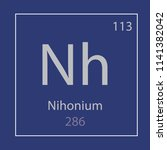 nihonium nh chemical element... | Shutterstock .eps vector #1141382042