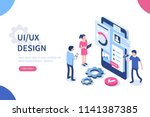 ux   ui design concept with... | Shutterstock .eps vector #1141387385