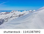 a wintertime view on mt. titlis ... | Shutterstock . vector #1141387892