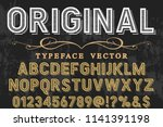 font alphabet typeface... | Shutterstock .eps vector #1141391198