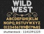 vintage font typeface... | Shutterstock .eps vector #1141391225