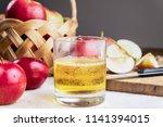 close up image of cidre drink... | Shutterstock . vector #1141394015