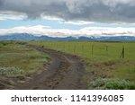 rural road in icelandic...   Shutterstock . vector #1141396085