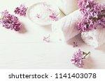 natural bath salt  cotton... | Shutterstock . vector #1141403078