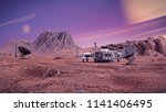 research station on the surface ... | Shutterstock . vector #1141406495