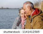 portrait of happy senior couple ... | Shutterstock . vector #1141412585