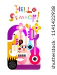 abstract vector design with... | Shutterstock .eps vector #1141422938