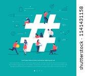 flat design concept group of... | Shutterstock .eps vector #1141431158