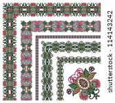 collection of ornamental floral ... | Shutterstock . vector #114143242