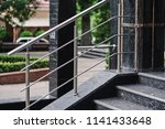 stainless steel railing | Shutterstock . vector #1141433648