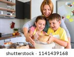 mother and children together...   Shutterstock . vector #1141439168