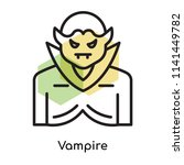 vampire icon vector isolated on ... | Shutterstock .eps vector #1141449782