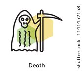 death icon vector isolated on... | Shutterstock .eps vector #1141452158