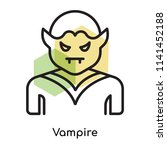 vampire icon vector isolated on ... | Shutterstock .eps vector #1141452188