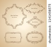 vintage vector ornaments design ... | Shutterstock .eps vector #1141458575
