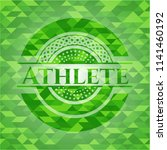 athlete green emblem with...   Shutterstock .eps vector #1141460192