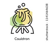 cauldron icon vector isolated... | Shutterstock .eps vector #1141464638